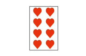 RED HEARTS STICKERS